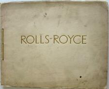 ROLLS ROYCE 40/50HP New Phantom Original Car Sales Brochure 1st October 1925