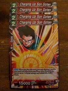 4x Charging Up Son Goten - Dragon Ball Super Card Game