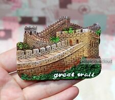 SOUVENIR 3D Travel FRIDGE MAGNET -- The Great Wall , Beijing , China