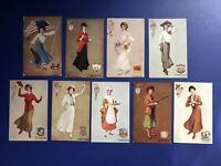 9 Rare Lovely Ladies STATE BELLES Antique Postcards 1907 For Collectors. W Value