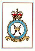 Postcard RAF Royal Air Force Regiment Crest Badge No.9 NEW