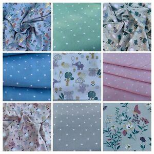 Cotton Spandex Jersey Prints, dress making fabric by John Louden, new uk