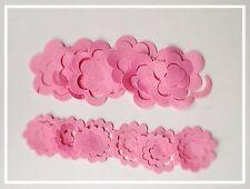 Set Of 12 Felt 3D Flowers Pink - Sizzix Die Cuts / Embellishments Ready To Wrap