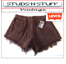 """LEVIS  VINTAGE WOMENS HIGH WAISTED SHORTS SIZE 32"""" APROX SIZE 12   (A3 )"""