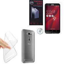 Schutz Hülle Ultraslim Silikon Asus Zenfone 2 Laser ZE600KL  + Panzerglas Folie