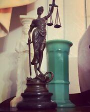 1930s Art Deco Bronze Justice Statue - Mayer