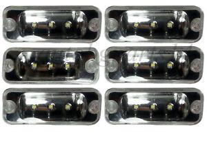 6x LED (3 LEDs) Cab Front Marker Lamp Light for DAF XF-CF-LF MERCEDES 24V