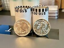 1 Silver Walking Liberty 50c + *Unsearched* 50c Roll + 2020 Kennedy Nfc 50C
