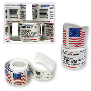 1 Roll 100 Stamps US Forever 2018 Flag Postage USPS Free Fast Shipping Stamps