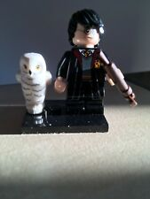 LEGO MINI FIGURE FANTASTIC BEASTS HARRY POTTER IN SCHOOL ROBE WITH HEDWIG