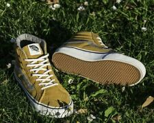 Vans Sk8 Hi Slim Vintage Suede Amber Gold Shoes Mens 8 Womens 9.5 FALL!