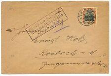 1918 (Nov. 14) German Occupation Ob. Ost. Cover from Riga Latvia Scarce