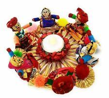Handmade Rajasthani Dolls Puppet Tealight Candle Holders/Diya/Gift for Christmas