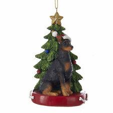 Doberman Pinscher w/Tree Ornament