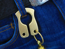 Handmade Solid Brass Key Chain Ring Tactical Outdoor Tool EDC New