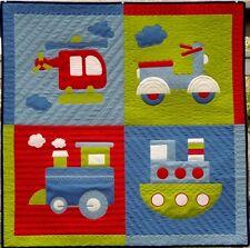 New Appliqe Crib Quilt Pattern Chug n Tug 39½ X 39½ Inch