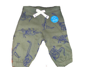 Carter's NWT Boys Size 3 Months Green Dinosaur Pull On French Terry Joggers