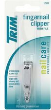 Trim Fingernail Clipper With File 1 ea (Pack of 6)