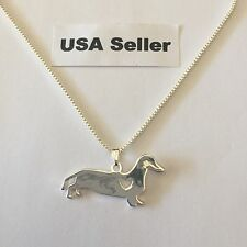New Women's Silver Doggie Pendant  With Box Chain Necklace