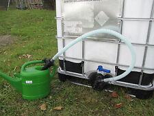 Schlauch Adapter mit Hahn für Wassertank Regentonne IBC