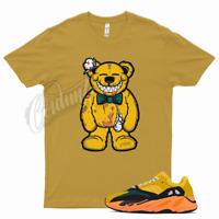 Gold TEDDY T Shirt to match Yeezy 700 Sun - Azareth Wave Runner Inertia Salt
