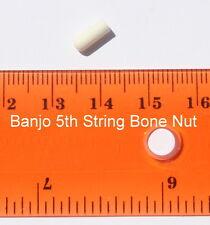 1 pcs of banjo bone nut 5th string 1/8 diameter x 5/16