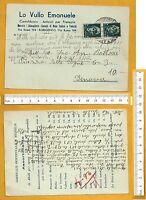 Cartolibraio LO VULLO EMANUELE - Cartolina Pubblicitaria Viaggiata F/G - 25316
