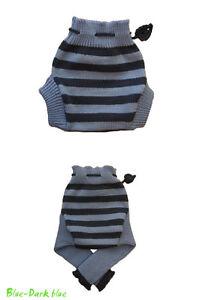 Striped Diaper Cover 100% MERINO WOOL baby cloth nappy soaker longies leggings
