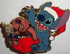 Disney Auctions PINS Stitch Opens Christmas Present Jumbaa Pleakley Dolls LE Pin