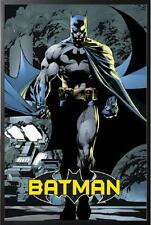 Batman Classic Comic Muscle Flex Poster Dry Mounted in Black Wood Frame, 24x36