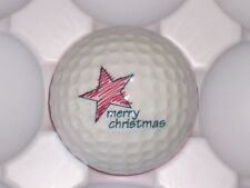 (1) ID#01 PING RED / WHITE CHRISTMAS LOGO GOLF BALL 9.0/10