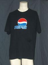 Pepsi Cola Logo Navy Blue L Large Gildan T-Shirt Soda Pop Soft Drink