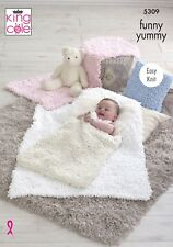KINGCOLE 5309 Funny Yummy Blanket KNITTING PATTERN-Not the finished blankets