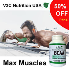BCAA's Branched Chain Amino Acids- 1500 mg - V3C Nutrition USA - 100 caps