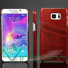 Custodia POCKET cover case rigida marrone per Samsung Galaxy Note 5 N920i tasche