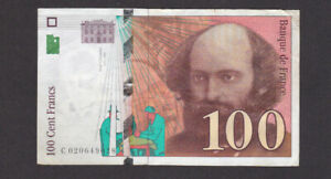 100 FRANCS VF-FINE BANKNOTE FROM FRANCE 1997 PICK-158a