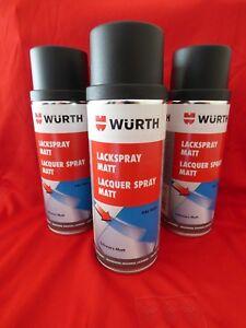 3x 400ml Sprühlack Schwarz Matt Ral 9005 Spraydose Autolack Lackspray