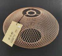 """Ikea Luftmassa Lamp Shade Rose-Gold Oval Patterned 15""""504.876.64"""