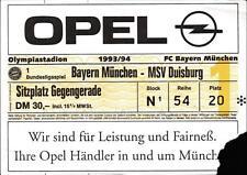 Ticket BL 93/94 FC Bayern München - MSV Duisburg