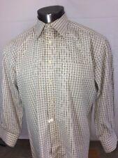 Peter Millar Check Button-Front Shirt Men's - Large EUC
