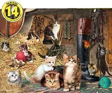 Jigsaw Puzzle Animal Cat Watchful Eyes Glow Dark Hidden Images 550 pieces NEW