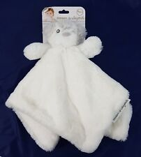 Blankets and Beyond White Gray Puppy Teddy Bear Lovey Security Blanket Nunu