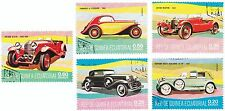 GUINEA ECUATORIAL - Bustina 5 francobolli serie AUTO D'EPOCA