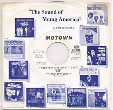 X-IT i need your love U.S. MOTOWN 45rpm_1974 white label promo M-1304F