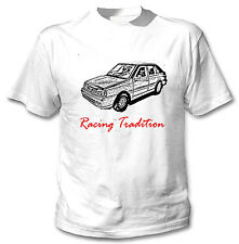 POLISH POLONEZ CARO PLUS FSO RACING TRADITION P - WHITE COTTON TSHIRT