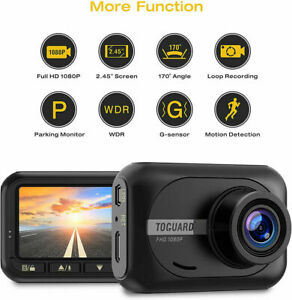 TOGUARD 1080P Pro Car Dash Cam DVR Video Recorder Full HD Camera 170 Wide Angle