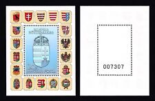 HUNGARY 1991 - Coat of Arms Hologram. Special/Gift Black. S.Sheet. MNH. Bl 218 a