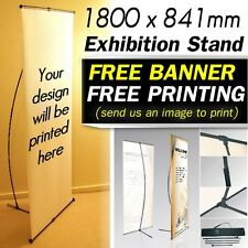 EXHIBITION PERSONALISED PULL UP BANNER CUSTOM PRINTING Display Stand shop signs