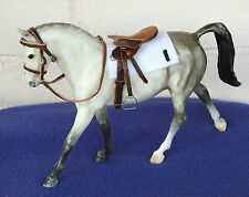 Handmade leather racing saddle & bridle tack fit 1:12 classic breyer toy horse
