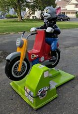 Coin Operated Kiddie Ride Tom and Jerry Motorcycle VTG Kid Sign Display VTG